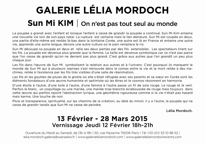 Exposition à la galarie Leila Mordoch