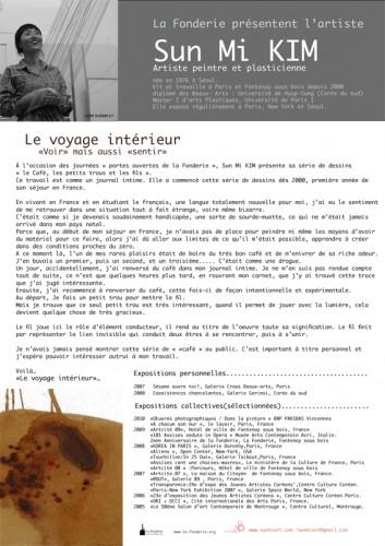 Serie de Dessins : Voyage intérieur 2010